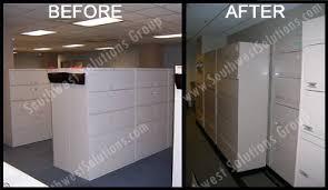 Lateral Office File Cabinets Rolling Lateral Filing Cabinets On Floor Tracks