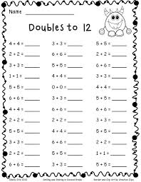 math doubles worksheets 2nd grade 1 math doubles worksheets 2nd