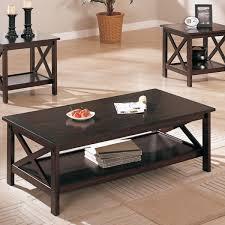 three piece table set 3 piece dark brown finish living room table set furniture bureau
