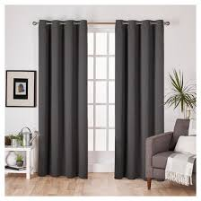 Drapes With Grommets Set Of 2 Sateen Twill Weave Insulated Blackout Grommet Top Window