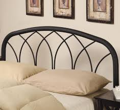 full queen modern black metal headboard headboards