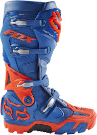 motocross boots fox instinct offroad enduro motocross boots navy blue orange 1stmx