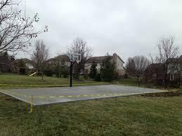 sports basketball courts acr decorative concrete cincinnati