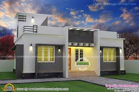 flat roof single floor home with stair room kerala home design
