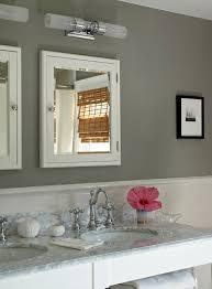 gray bathroom cottage bathroom bella mancini design