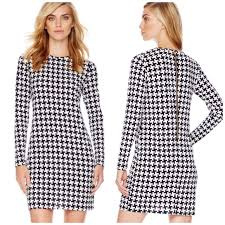 houndstooth dress michael michael kors dresses skirts michael kors houndstooth