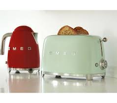 Red 2 Slice Toaster Buy Smeg Tsf01pguk 2 Slice Toaster Pastel Green Free Delivery