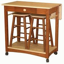 amish guest server kitchen island with two bar stools bar stool