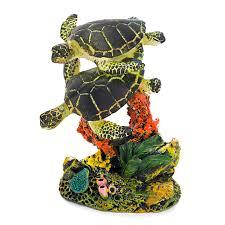 amazon com penn plax swimming sea turtle aquarium decor small