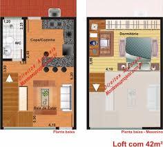 Plan De Loft Planta De Loft De 42m Monte Seu Projeto