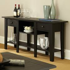 Black Console Table With Storage Flossy James Sofa Table Home Zone Furniture Occasional Tables To