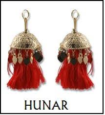 ethnic earrings hunar designs