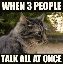 Crazy People Meme - when 3 people talk all at once funnies pinterest people memes