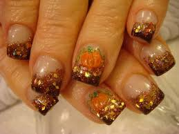 acrylic fall nail designs