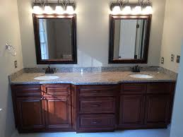 bathroom double wall mirror with bathroom vanity cabinets and