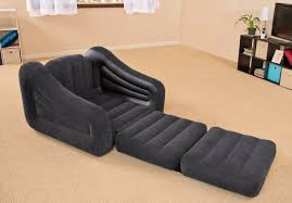 intex inflatable air chair with pull out twin bed mattress sleeper