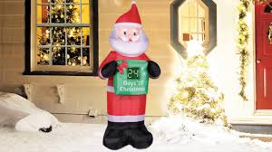 occasions airfowz inflatable count down santa claus with