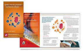 computer repair brochure templates technology