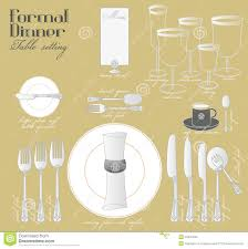 How To Set A Table How To Set A Formal Dinner Table Home Design Inspiration