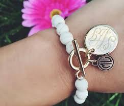 monogrammed bracelets bracelet chain boho monogrammed bracelet
