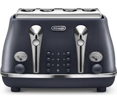 Asda Toasters Buy Delonghi Elements Ctoe4003 Bl 4 Slice Toaster Ocean Blue