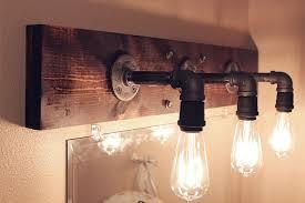 Rustic Bathroom Lighting - amazing vintage style bathroom lighting with 3 vintage lamps