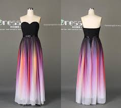 simple dresses black ombre chiffon a line prom dress sweetheart ombre prom dress