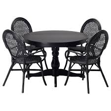 dining room sets ikea ingatorp Almsta table and 4 chairs black rattan black length 61