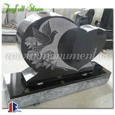 tombstone designs black granite tombstone designs with heart and dove buy monument