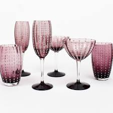 cocktail glass set zafferano perle amethyst cocktail glasses set of 4 omero home