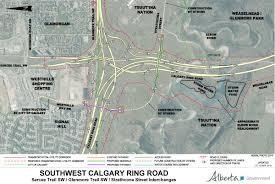 Calgary Map 2015 Southwest Calgary Ring Road Maps U2013 Calgary Ring Road