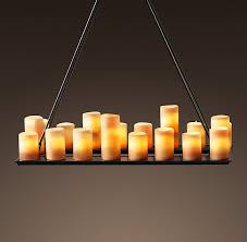 Real Candle Chandelier Candle Rectangular Chandelier 39