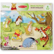 disney winnie pooh wooden chunky puzzle walmart