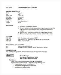 finance manager resume sample finance manager resume cv example