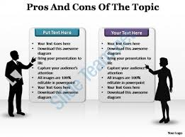 pros and cons powerpoint template slide powerpoint presentation