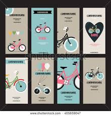 Bicycle Business Cards Bicycle Icon On Horizontal Vertical Banner Stock Vector 553483324