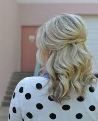 partial updos for medium length hair 21 gorgeous half up half down hairstyles babble