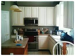 kitchen cabinet makeover with annie sloan chalk paint before island was painted painted kitchen cabinets