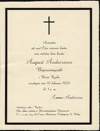 funeral invitation template august andersson s funeral invitation