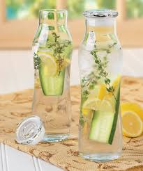 farm to table infusion glass bottles fill ahead of time store