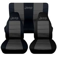 charcoal black jeep jeep wrangler tj front back car seat covers black charcoal w jeep so