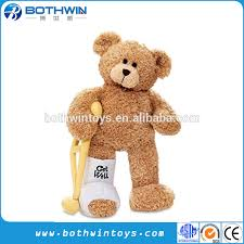 get well soon teddy broken leg get well soon teddy with a cast buy teddy