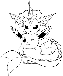 pokemon coloring pages eevee evolutions quality coloring