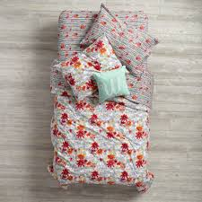 Land Of Nod Girls Bedding by Floral Pop Duvet Cover The Land Of Nod