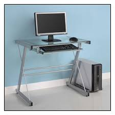 Walker Edison Computer Desk Silver Bb31s29 Best Buy