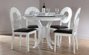 Contemporary White Dining Room Sets - fantastic white round dining table set modern white round dining