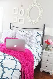 Purple Bookcase Pink And Black Zebra Bedroom Decor Brown Furry Rug On Wooden Floor