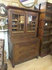 Oxford Secretary Desk Cherry Antique Desks U0026 Secretaries Ebay