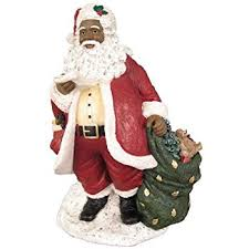 amazon com african american christmas santa with list figurine