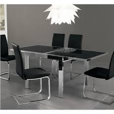 Black Glass Extending Dining Table Crescendo Dining Table Extendable Dining Table W Black Glass